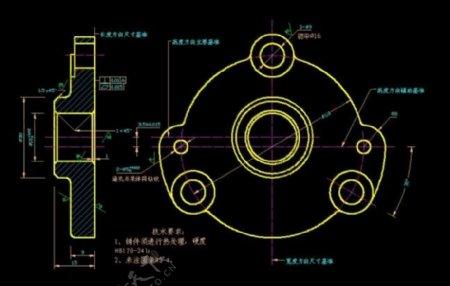 机械设计泵盖图纸