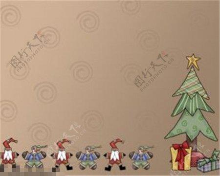 圣诞树圣诞老人PPT