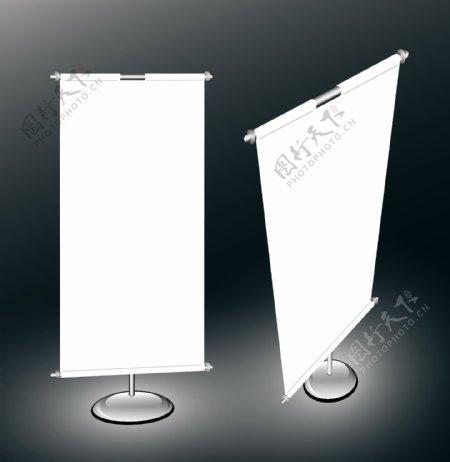 内有易拉宝展架吊旗图片