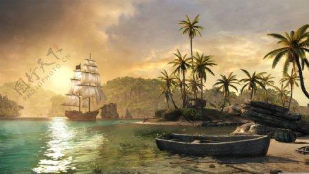 海边背景图片