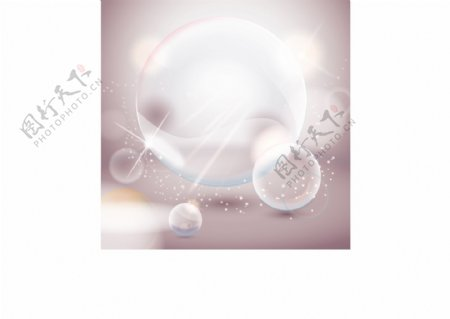 闪亮水晶气泡矢量素材