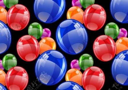 矢量气泡炫彩光斑素材