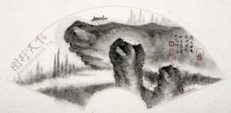 国画山水小品图片