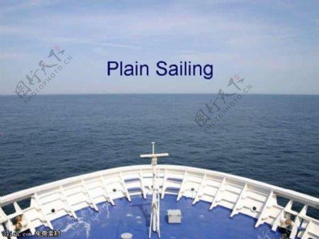 海面游船PPT模板