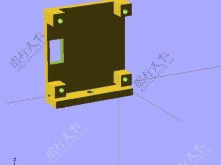 pz0420摄像机安装板