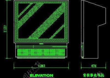 电视机图块视听设备图块影院音响组合图块电脑CAD图块15