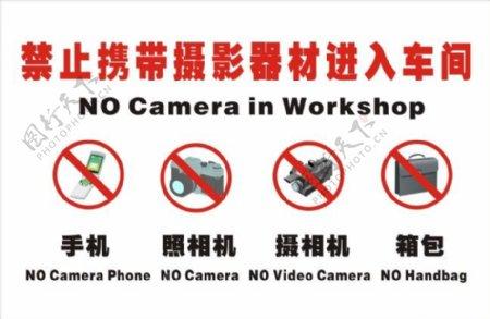 禁止摄像标志