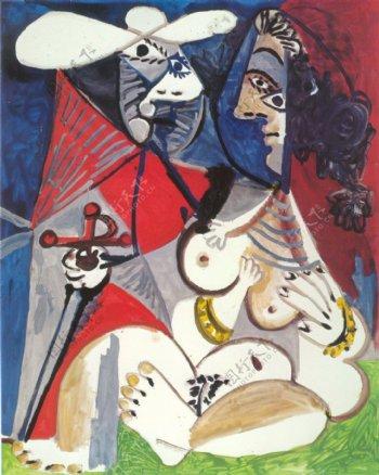 1970Lematadoretfemmenue2西班牙画家巴勃罗毕加索抽象油画人物人体油画装饰画