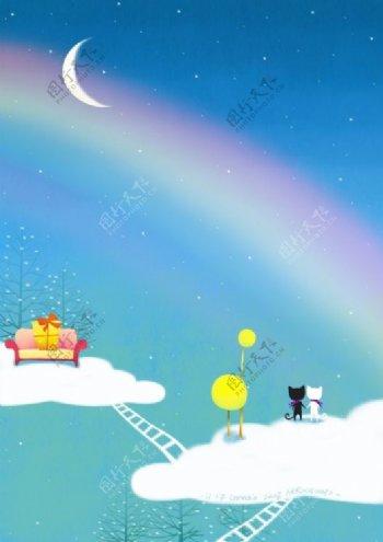 位图动物猫色彩彩虹免费素材
