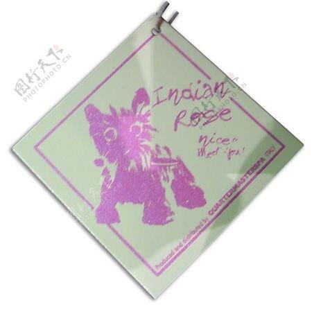 小猫英文紫色灰色吊牌免费素材