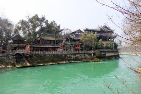 都江堰离堆公园图片