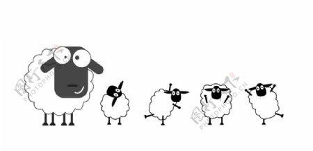 卡通绵羊图片