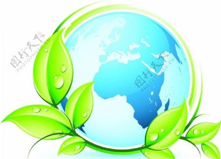 環保地球矢量图片