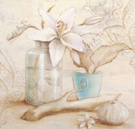 进口画芯花卉静物图片