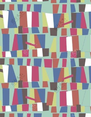 七彩方形图案图片