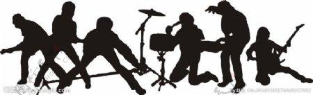 乐队剪影图片