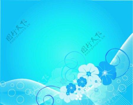 兰色花纹背景部分图形为位图图片
