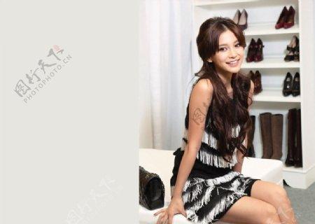 杨颖写真图片