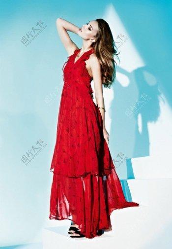 欧洲美女模特时尚摄影造型图片