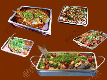 烤鱼素材图片