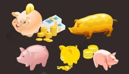 金猪金币图片