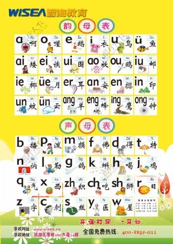 幼儿单页字母表图片