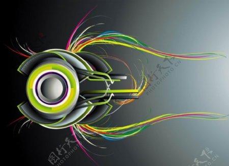 动感线条音乐背景图片