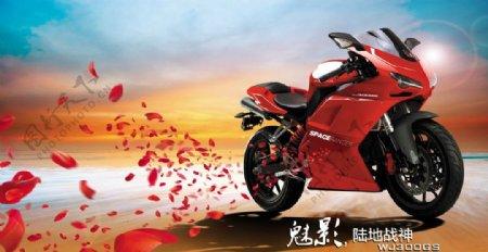 摩托车花瓣图片