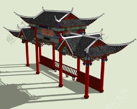 古建3D模型