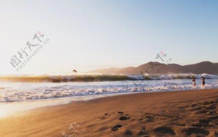 大海边的沙滩