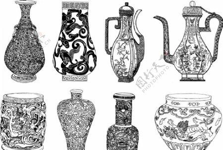 花瓶和酒壶
