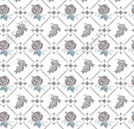 玫瑰花卉设计墙纸印花设计图库