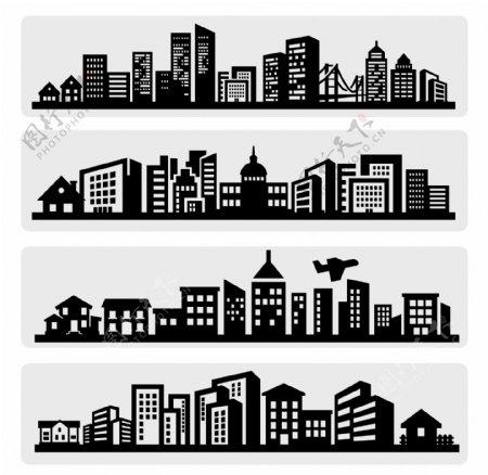 城市剪影图