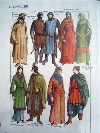欧洲风格服装设计图
