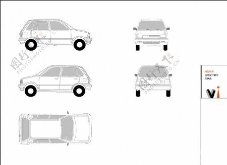 车辆微型轿车VI汽车交通类AI格式0120