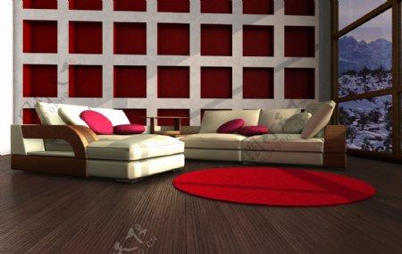 欧洲风格客厅设计图片