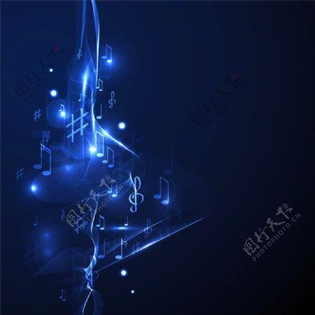 动感流线音乐背景图片