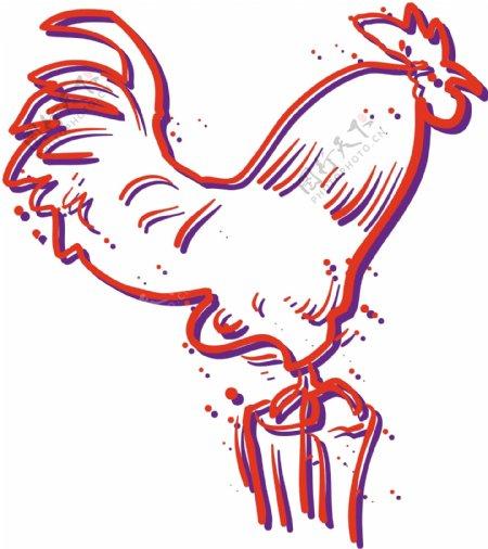 家禽家畜动物矢量素材EPS格式0324