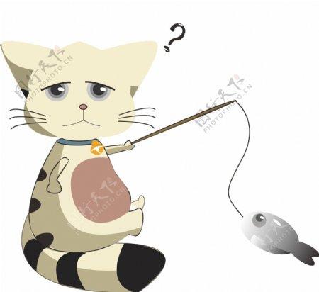 小猫小猫钓鱼钓鱼鱼