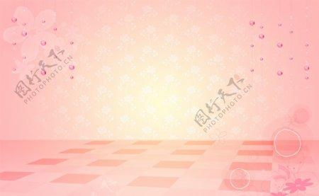 粉色背景花纹