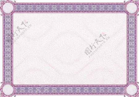 复古的紫色框