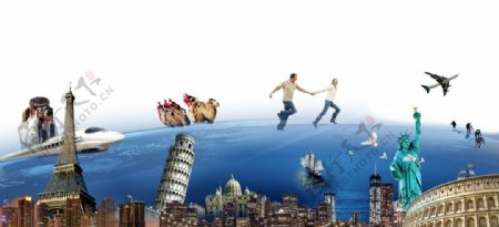 旅游广告传单海报用设计图