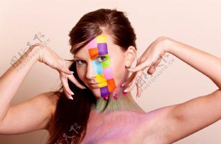 面部彩绘人体艺术图片