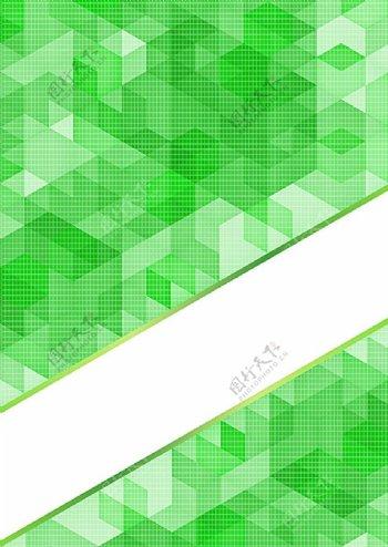 绿色立方体和白条背景