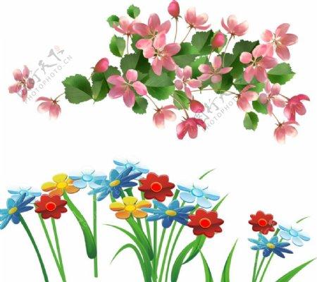 卡通花朵春天花朵