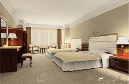 五洲大酒店标准间模型