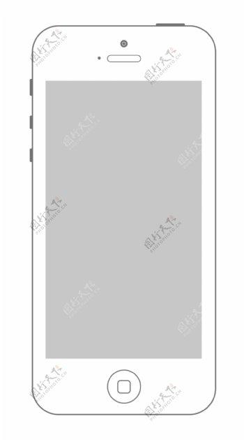 线描iphone5图片