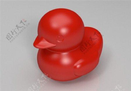 微笑的小黄鸭3D打印模型