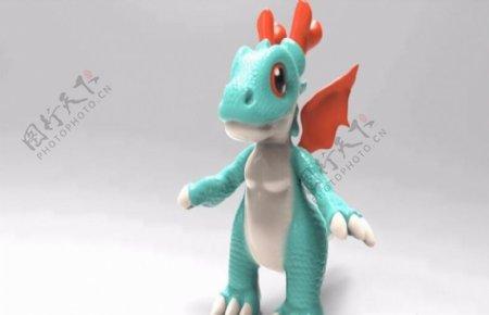 小龙3D打印模型