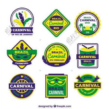 巴西矢量元素徽章设计